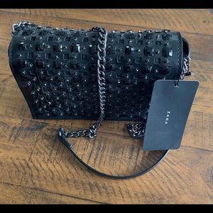 NWT Zara Black Crossbody Handbag Purse
